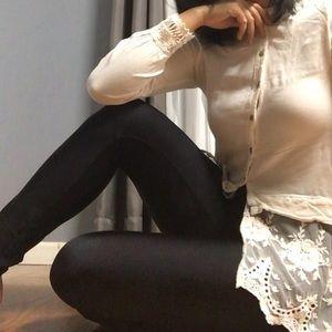XCVI • lace button up blouse